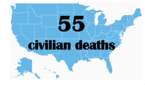 55 civilian deaths from terrorism in USA since 9/11